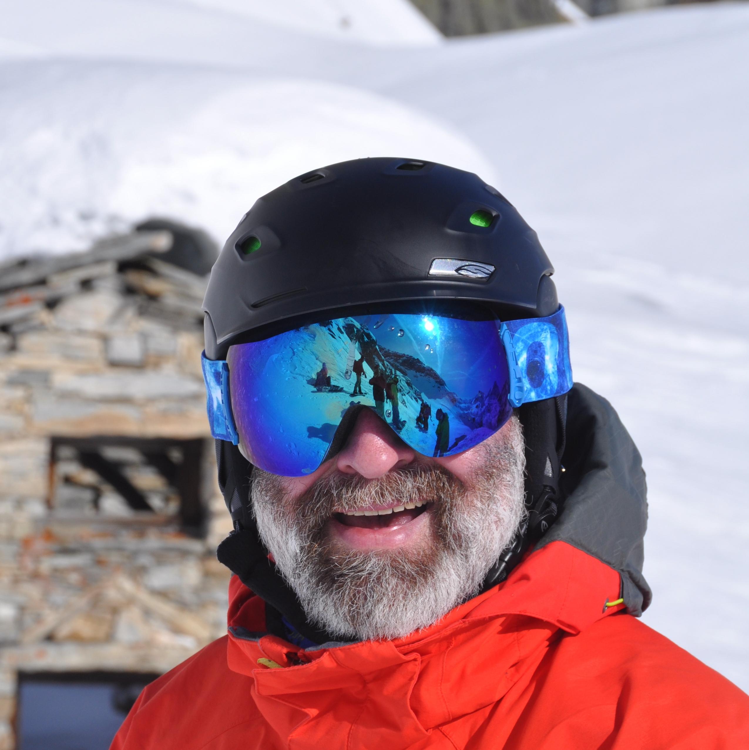 Ralf Trapp beim Snowboarden